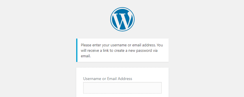 Reset your WordPress password