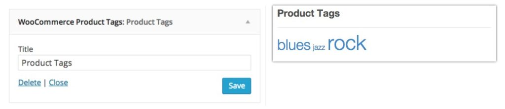 widgets woocommerce product tags